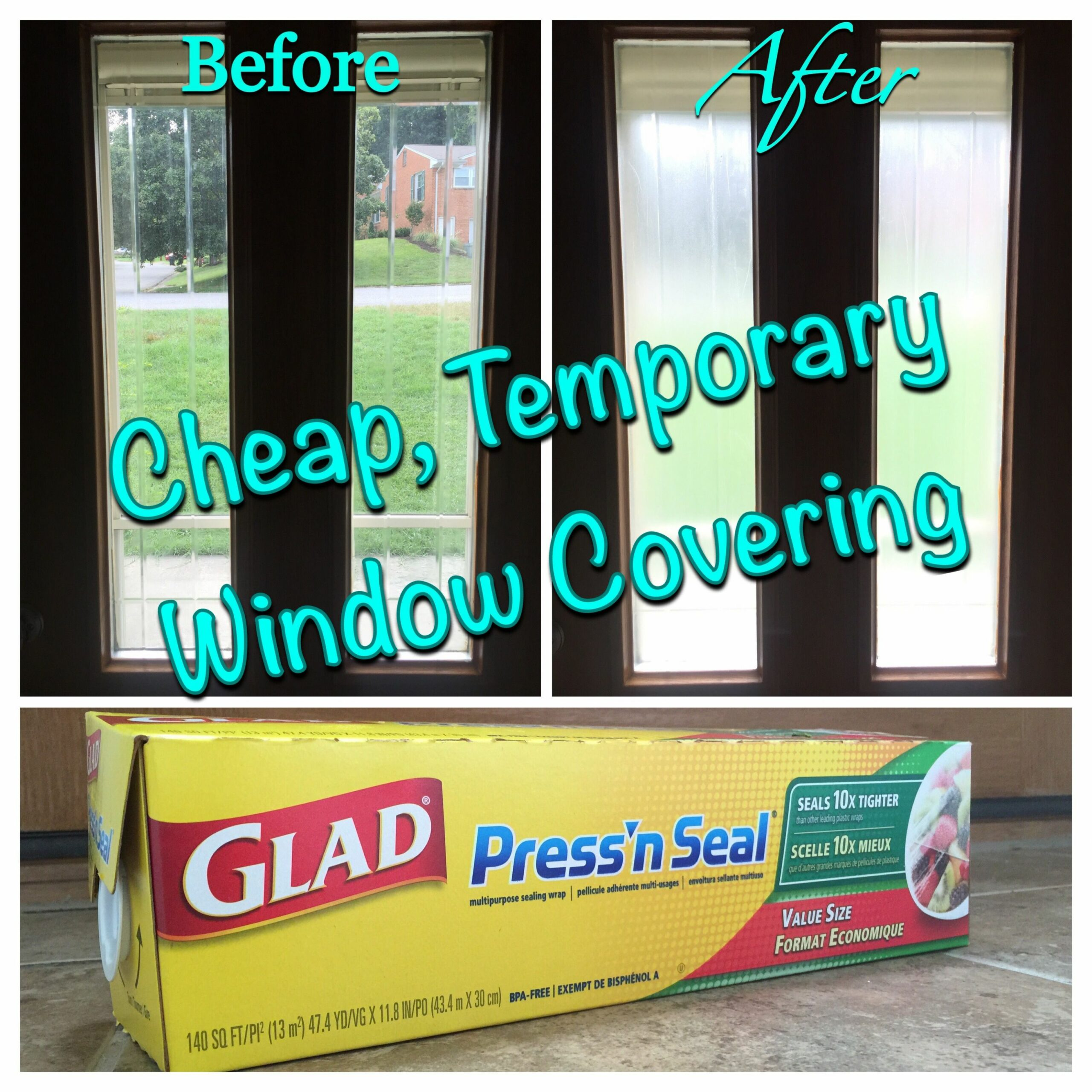 Need more privacy from your windows? Cheap Temporary covering ...