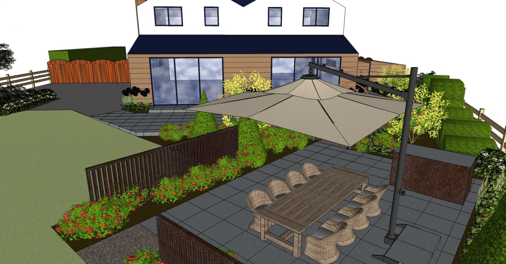 New Build Garden Ideas - TDS - garden ideas new build