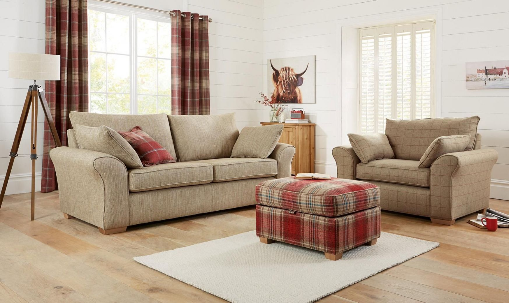 Next tartan living room … (With images) | Next living room ..