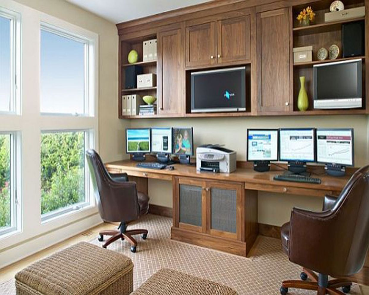 Nice Home Office Furniture Best Ideas Trendy Great Custom Elements ...