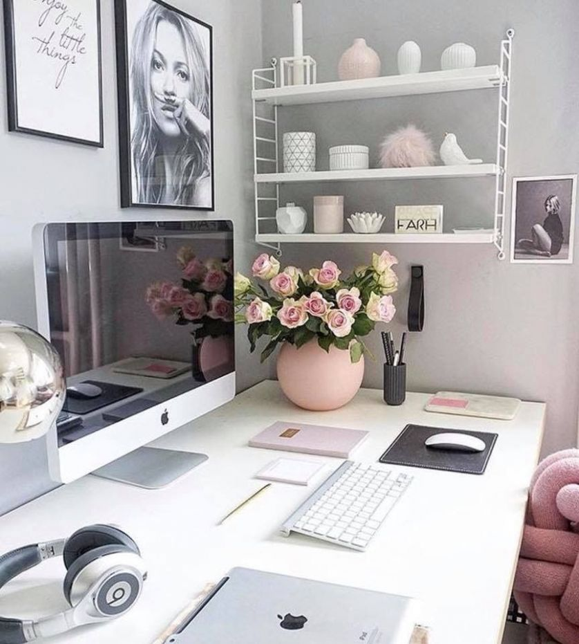 Office desk ideas. Small office space decorating ideas. Office ..