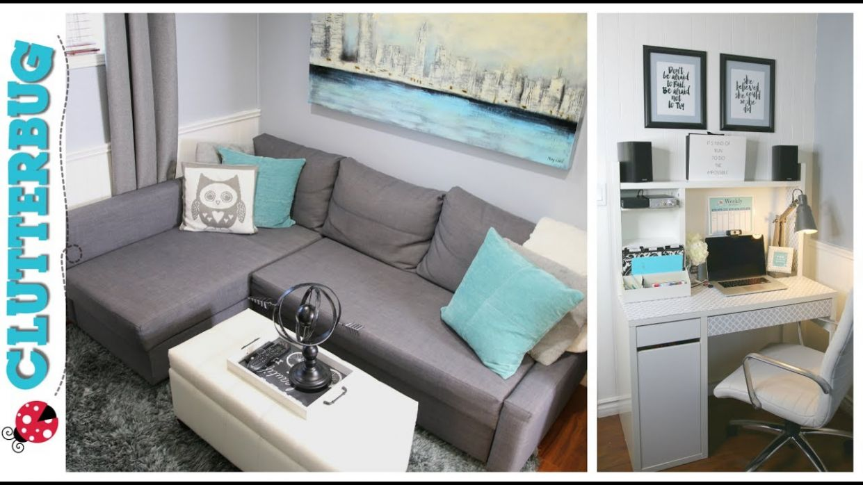 Office Makeover - Small home office decorating and organizing ideas and tour