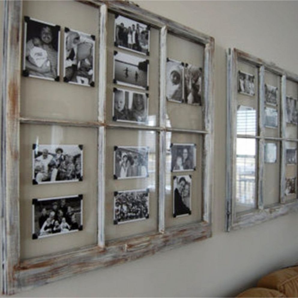 Old Window Frames DIY Ideas and Window Frame Crafts | Old window ...