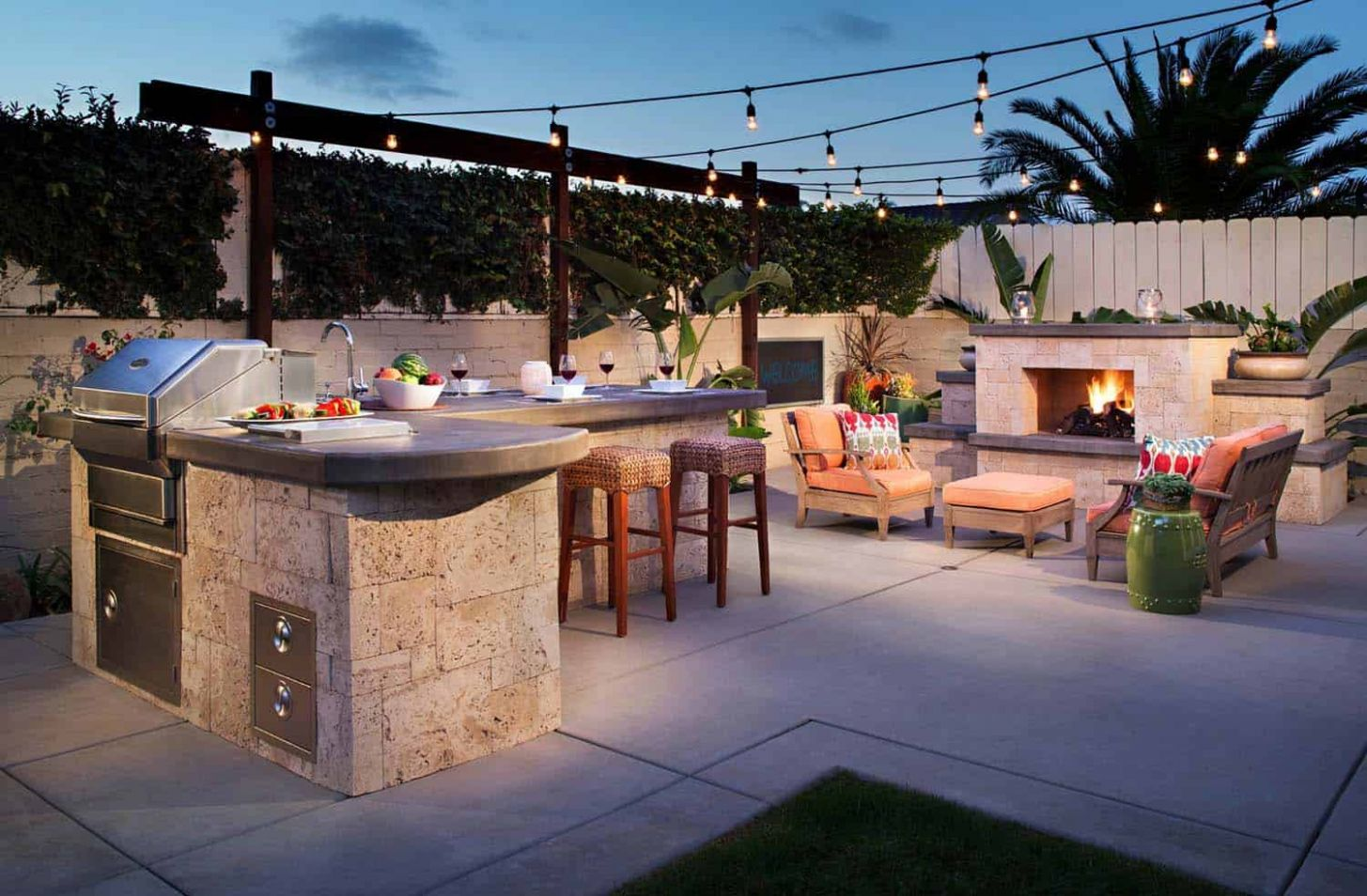 One Kindesign - backyard kitchen ideas pictures