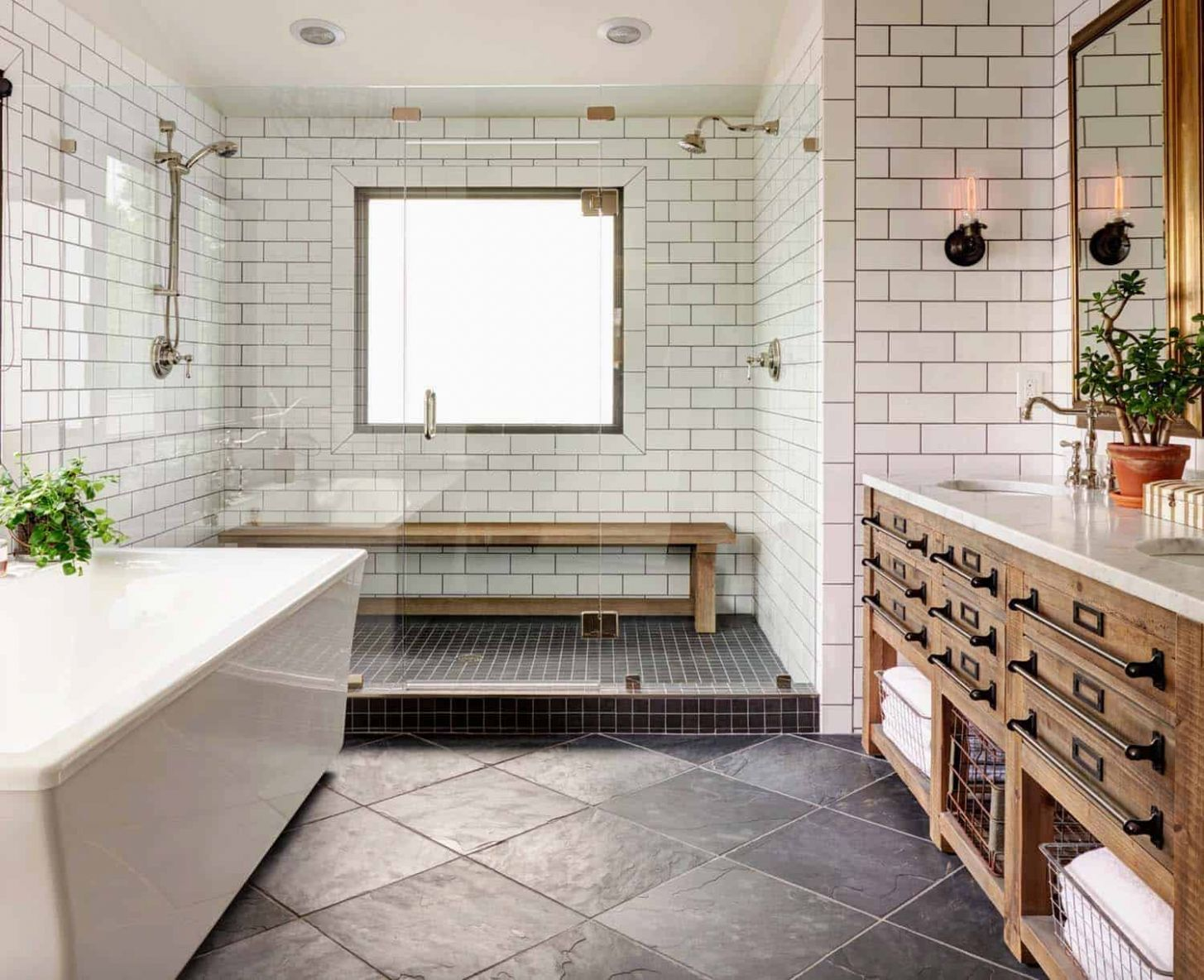 One Kindesign - bathroom ideas modern farmhouse