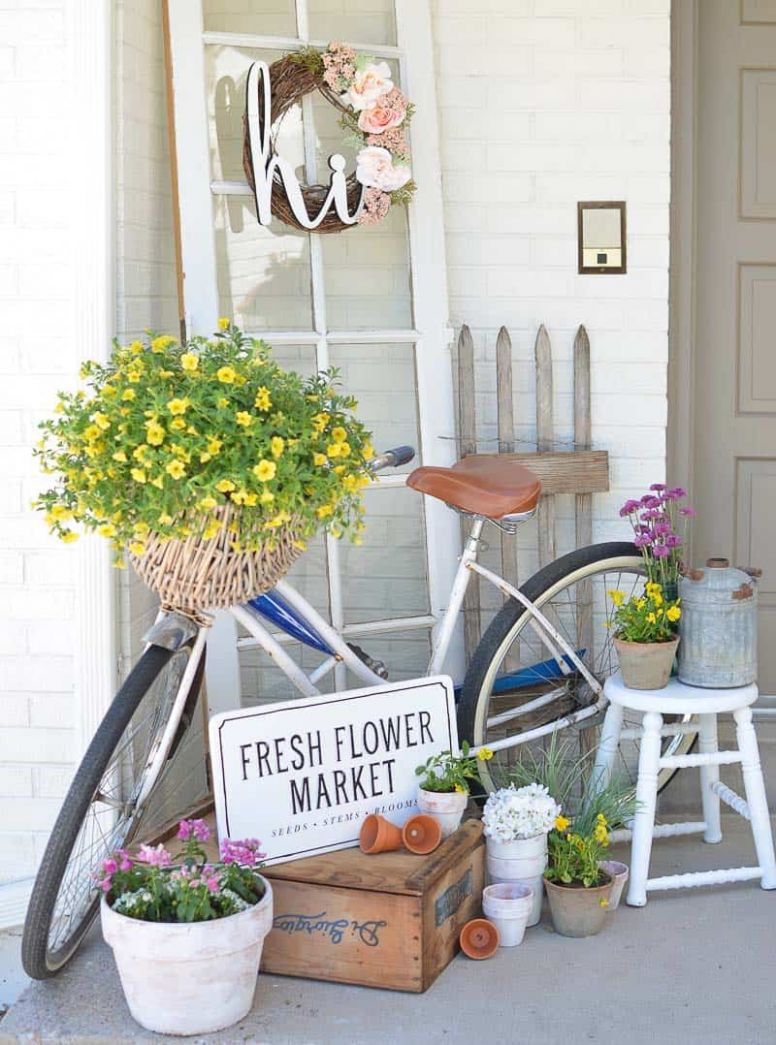 One Kindesign - front porch decor spring