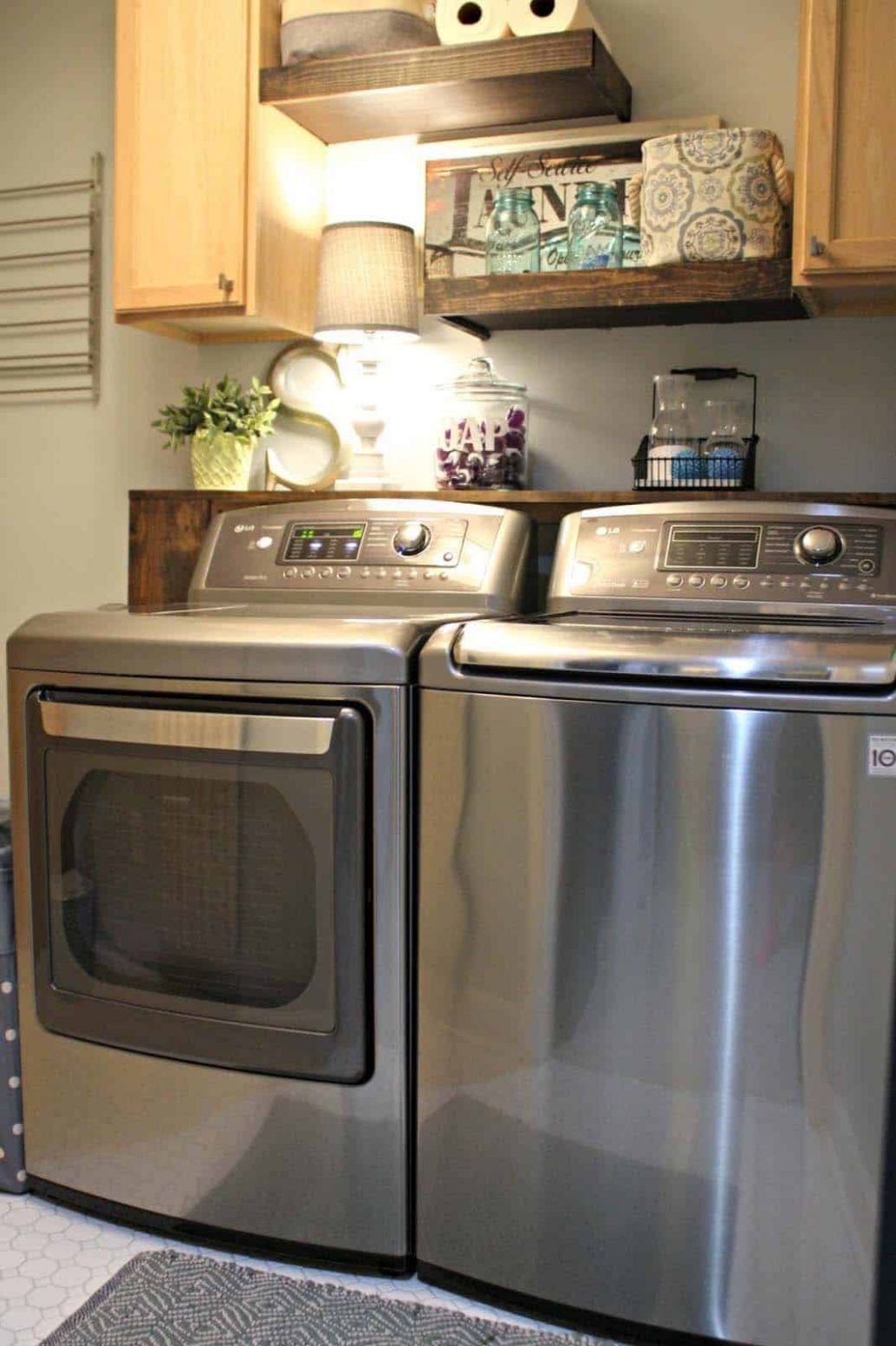 One Kindesign - laundry room ideas with top load washer