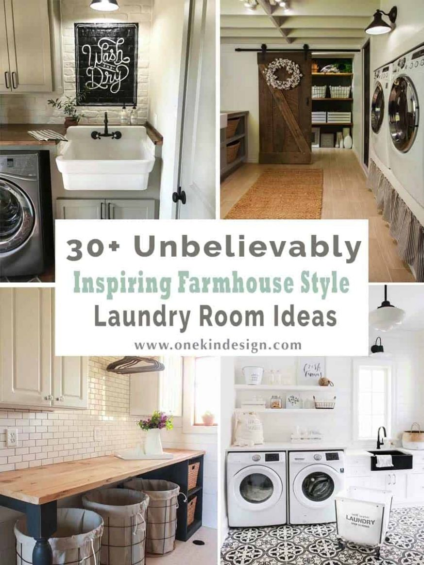 One Kindesign - laundry room mudroom ideas