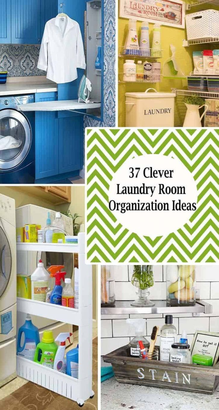 One Kindesign - laundry room organization ideas diy