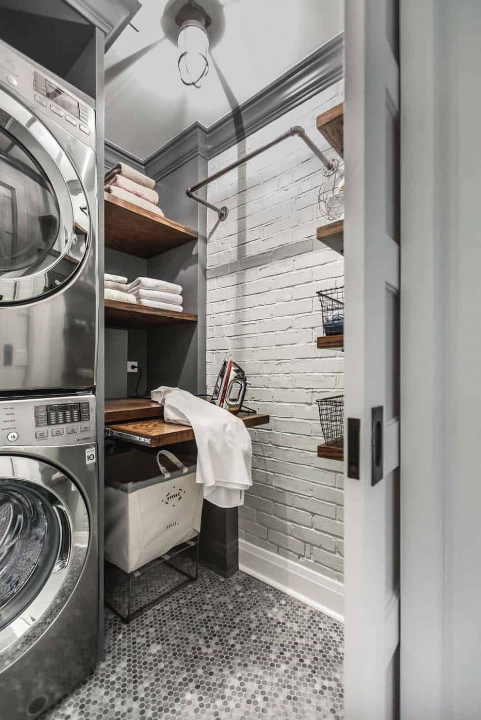 One Kindesign - quick laundry room ideas