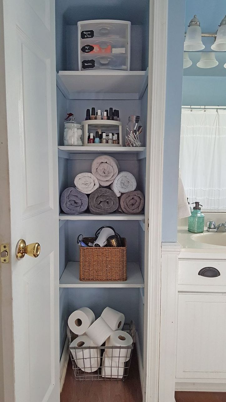 Organized Linen Closet | First apartment decorating, Home ..