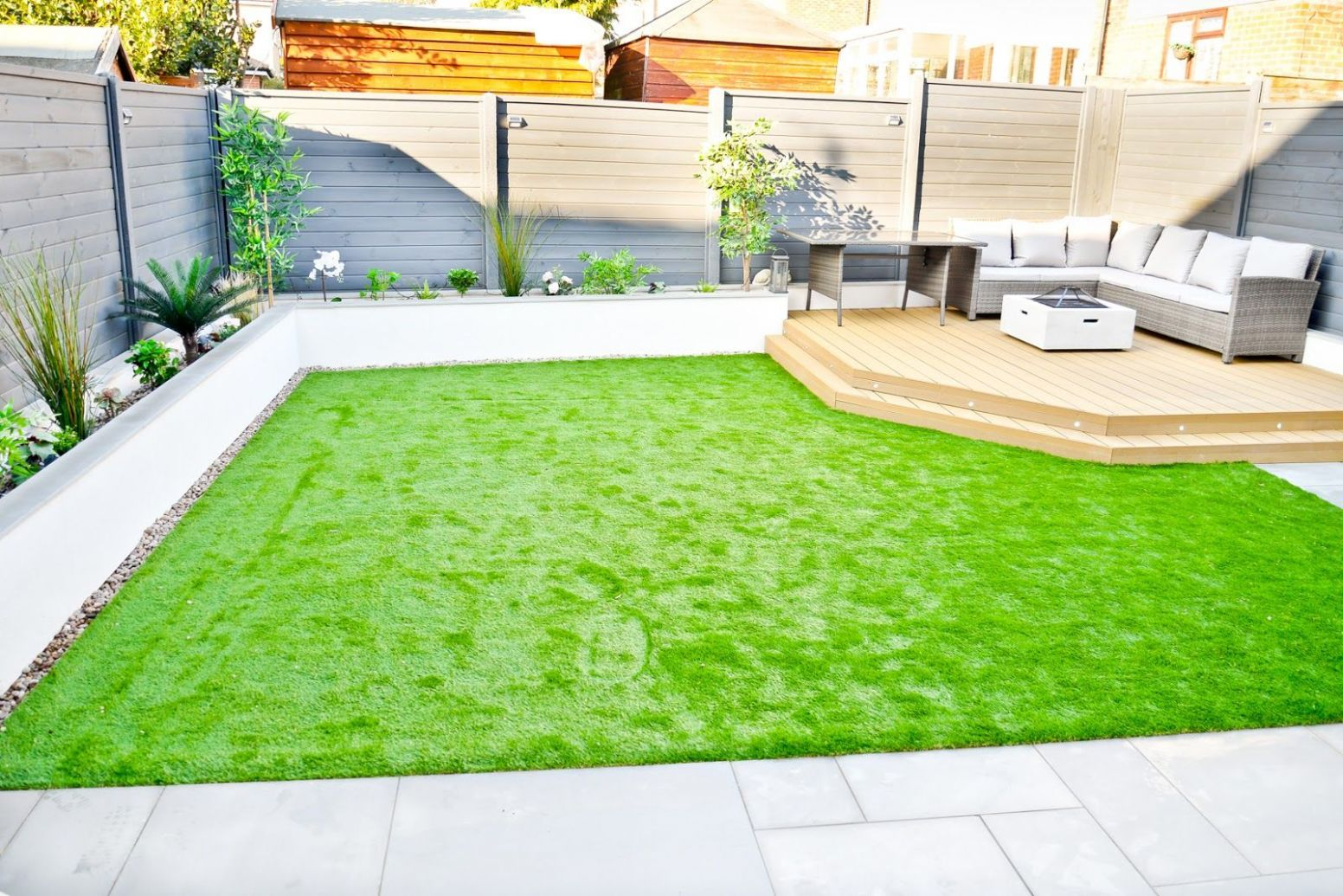 Our Back Garden Makeover - Before & After | Artificial grass ideas ...