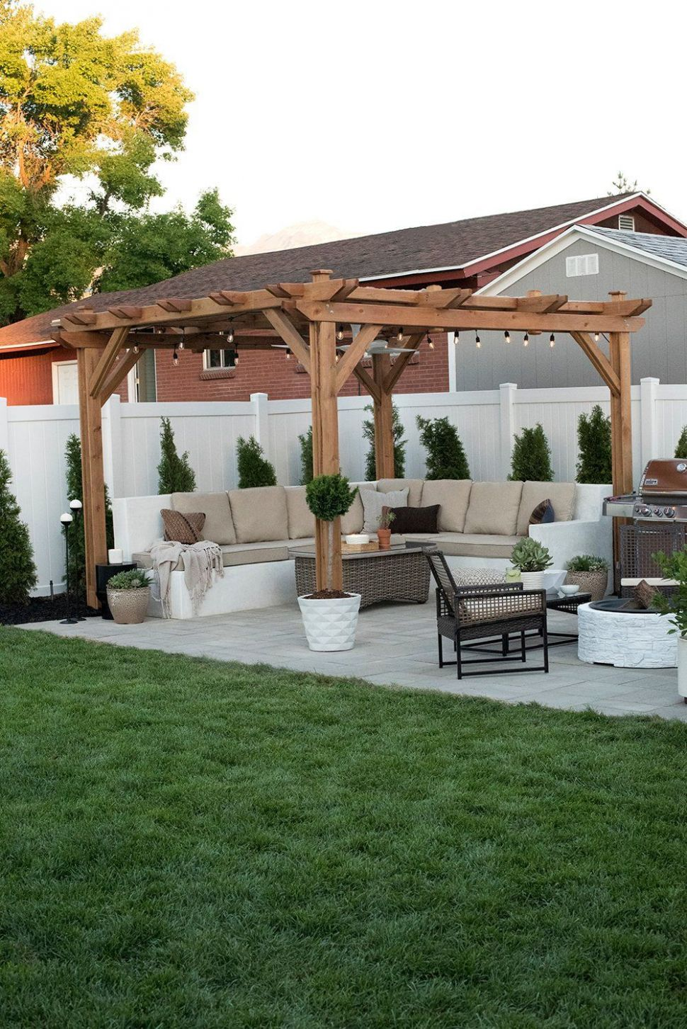 Our Backyard Reveal & Get the Look | Small backyard patio ...