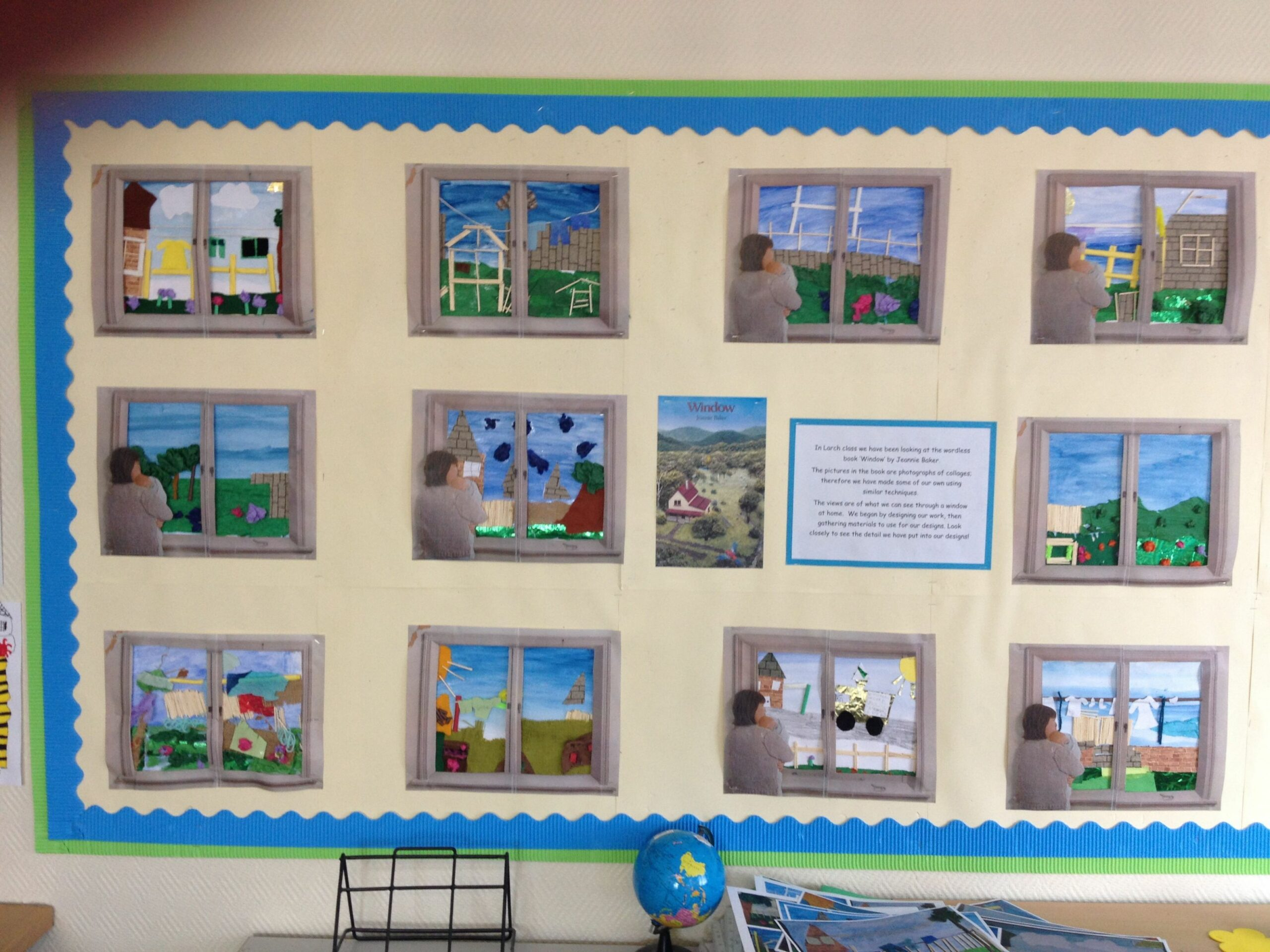 Our beautiful collages based on the book 'Window' by Jeannie Baker ...