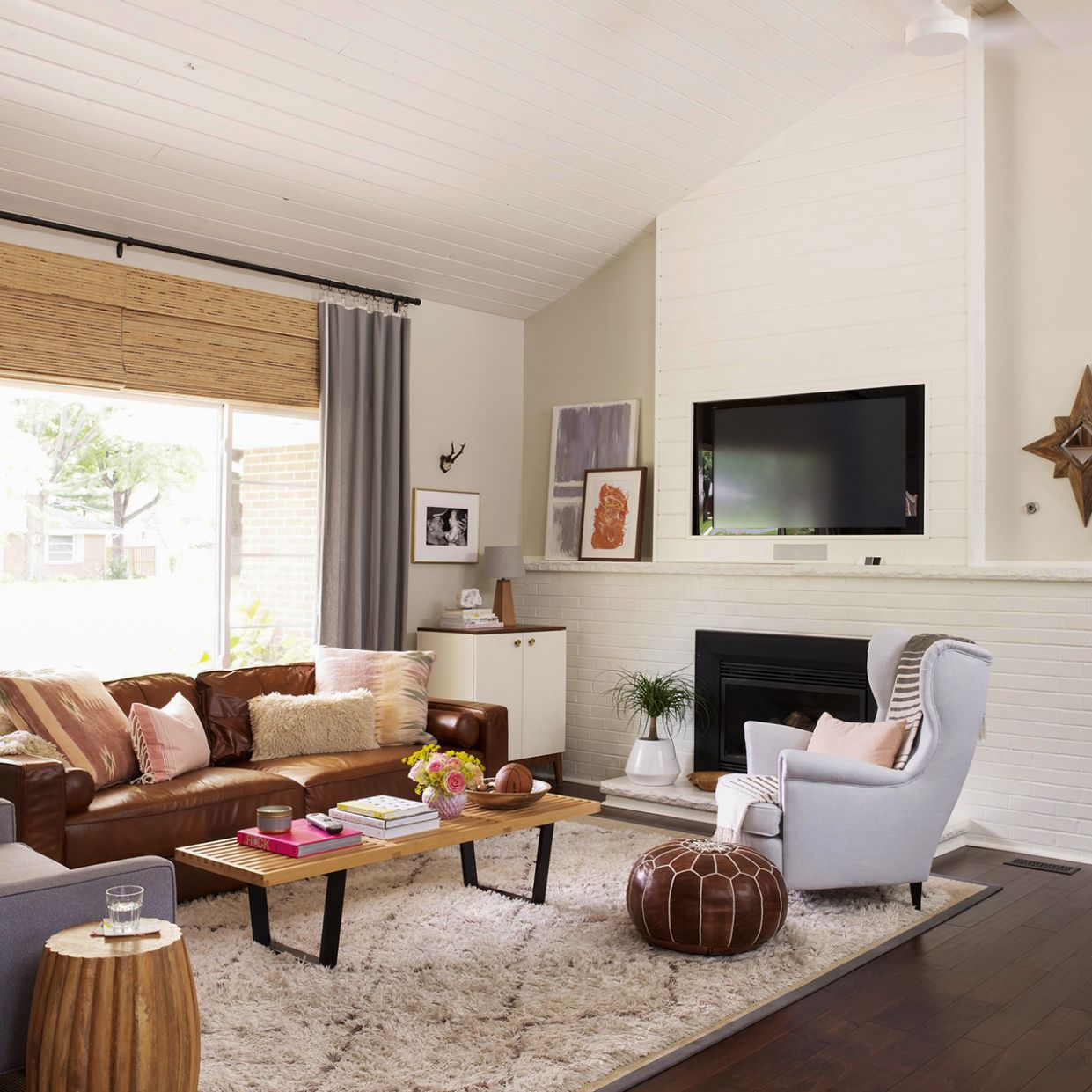 Our Favorite Ways to Decorate with a Brown Sofa | Better Homes ...