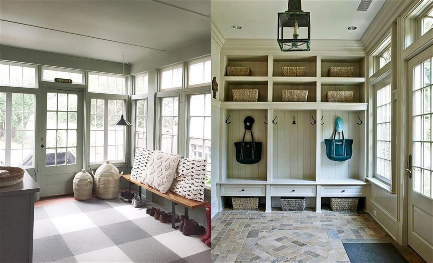Our New House: Mudroom – Park and Division - sunroom mudroom ideas