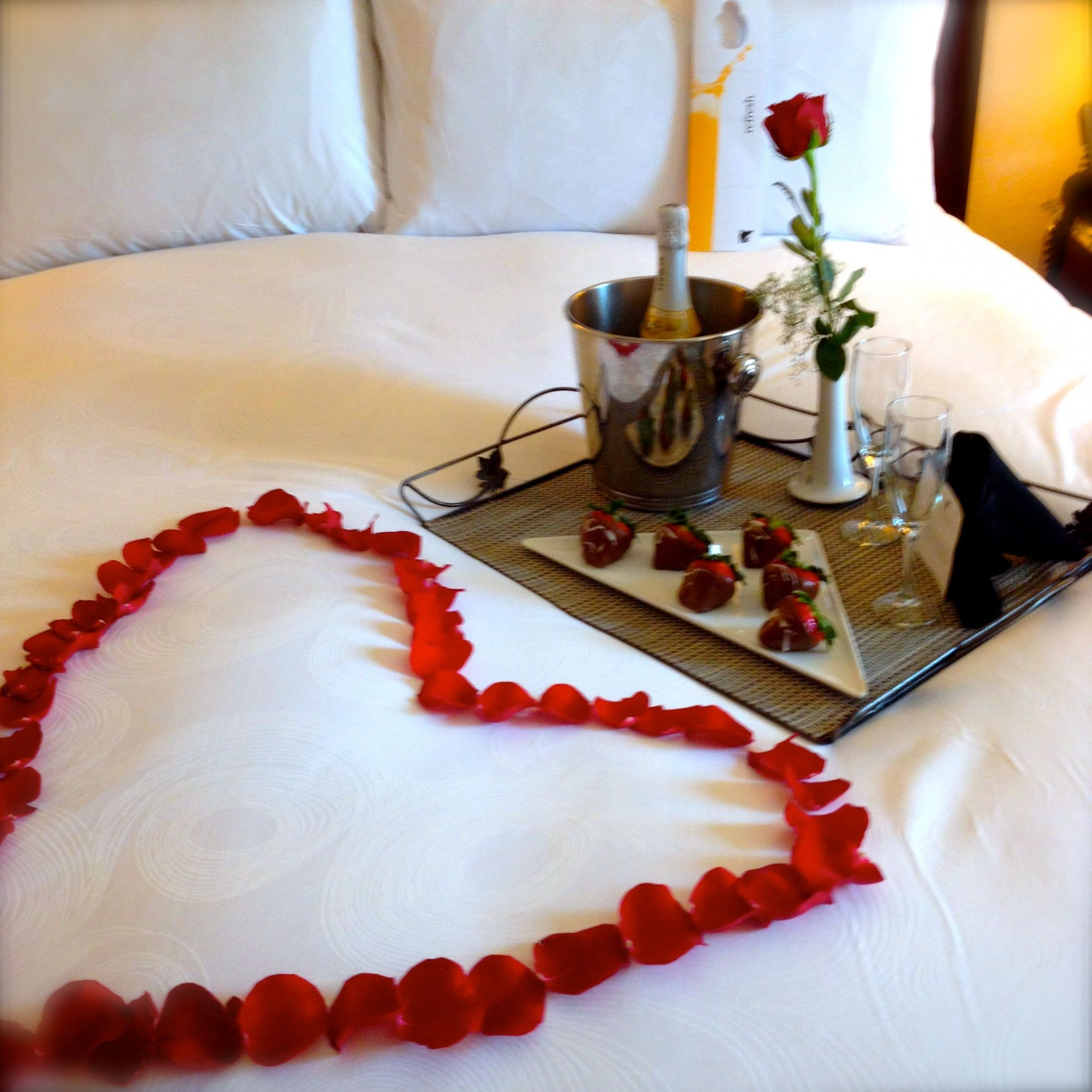 Our Rose Petal Turndown Service is the perfect finishing detail ..