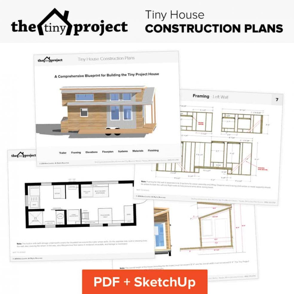 Our Tiny House Floor Plans (Construction PDF + SketchUp) - tiny house on wheels plans