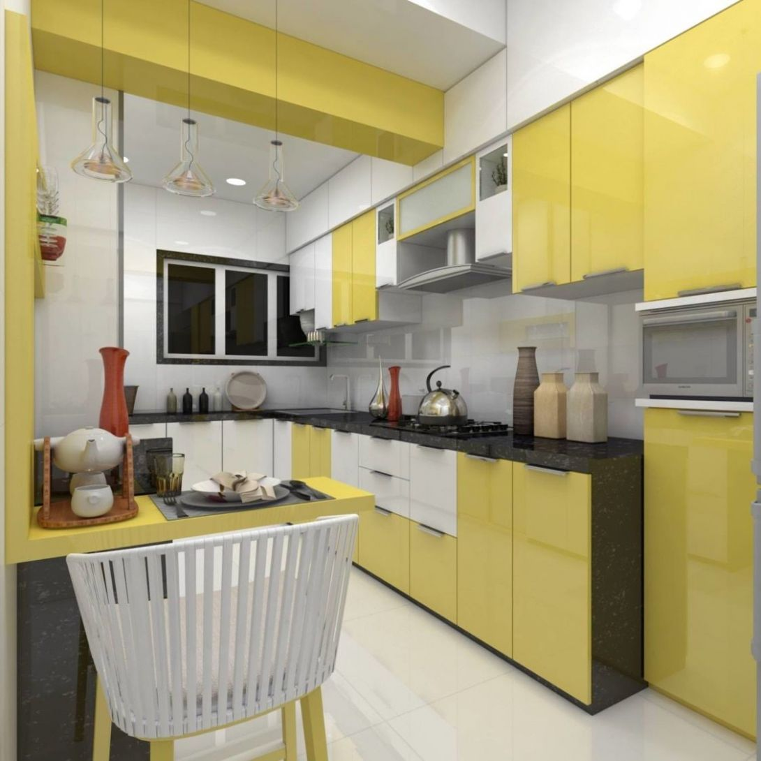 Pastel yellow for your kitchen cabinets! // Small Modern Kitchen ..