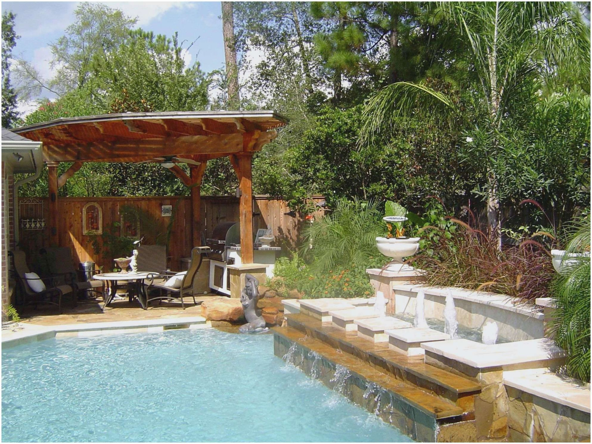 Patio Backyard Xeriscape Landscaping Ideas Pool Privacy Finding A ..