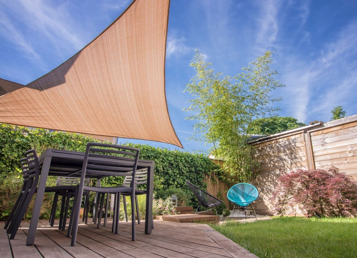 Patio Shades Ideas - 10 Clever Ways to Take Cover Outdoors - Bob Vila - balcony shade ideas