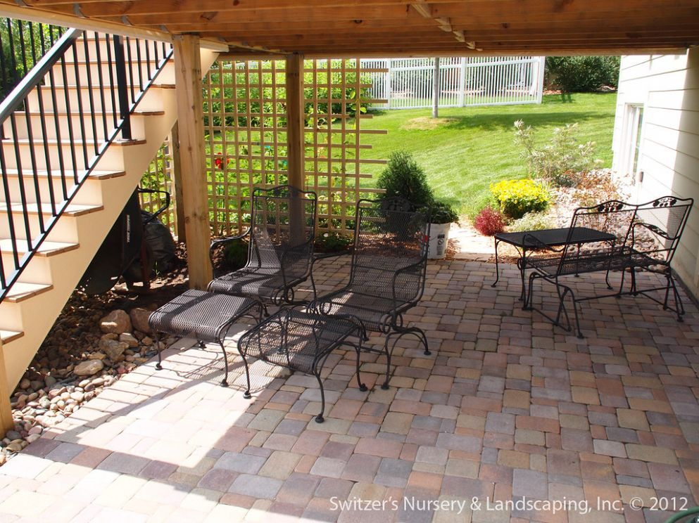 Paver Patio under Deck with Retaining Wall & Steps - Minne… | Flickr - backyard ideas deck