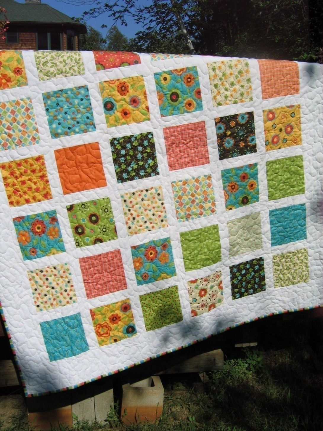 PDF QUILT PATTERN....Simple, Quick and Easy, French Window Panes ..