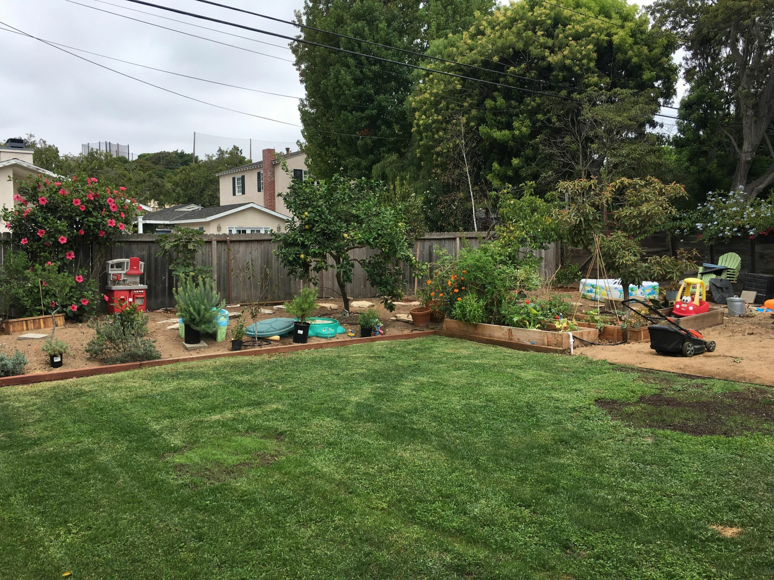 Pea gravel or wood bark? Need ideas for ground cover kids can ..