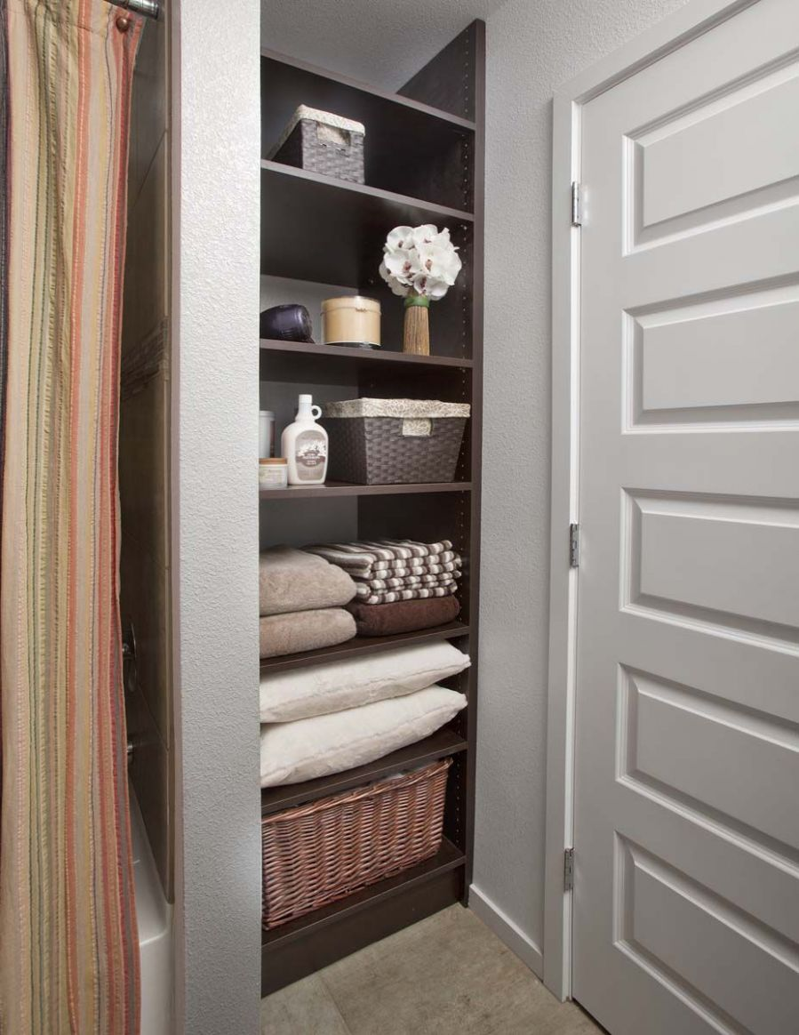 Photo Gallery of Home Organization Systems | Bathroom closet ...