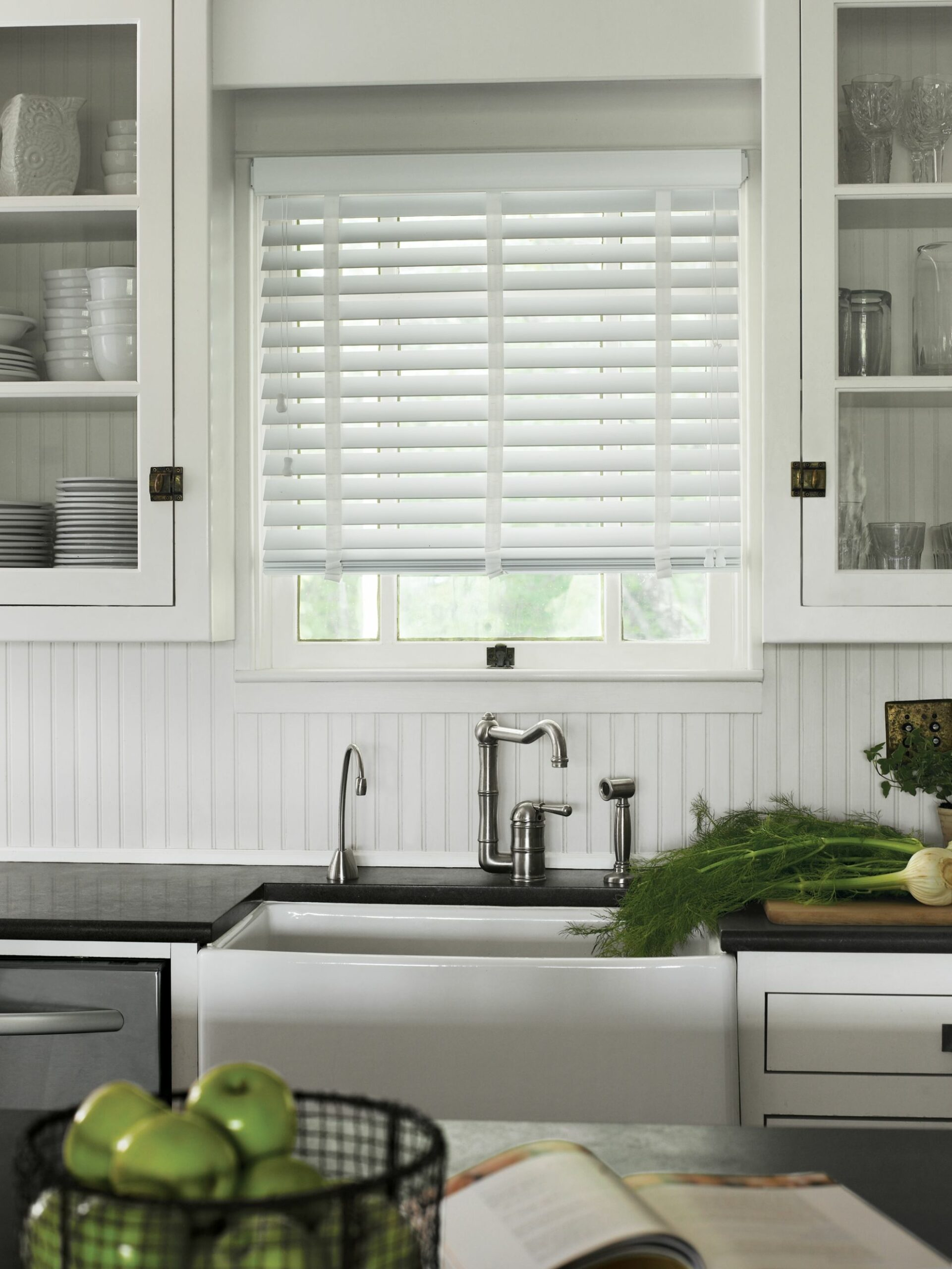 Picture of White Kitchen Sink Window Treatments