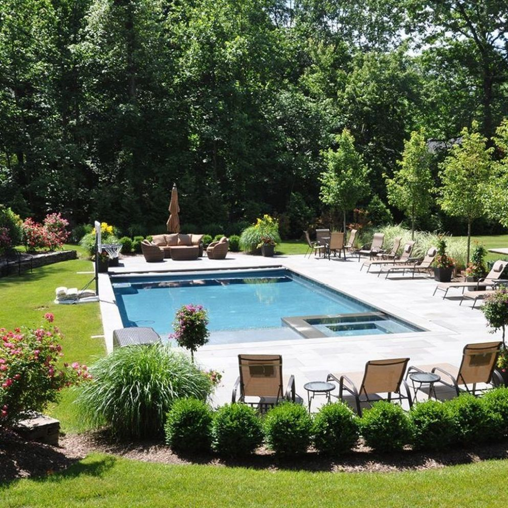 Pin by decorrea.com on Pool | Backyard pool landscaping, Backyard ..