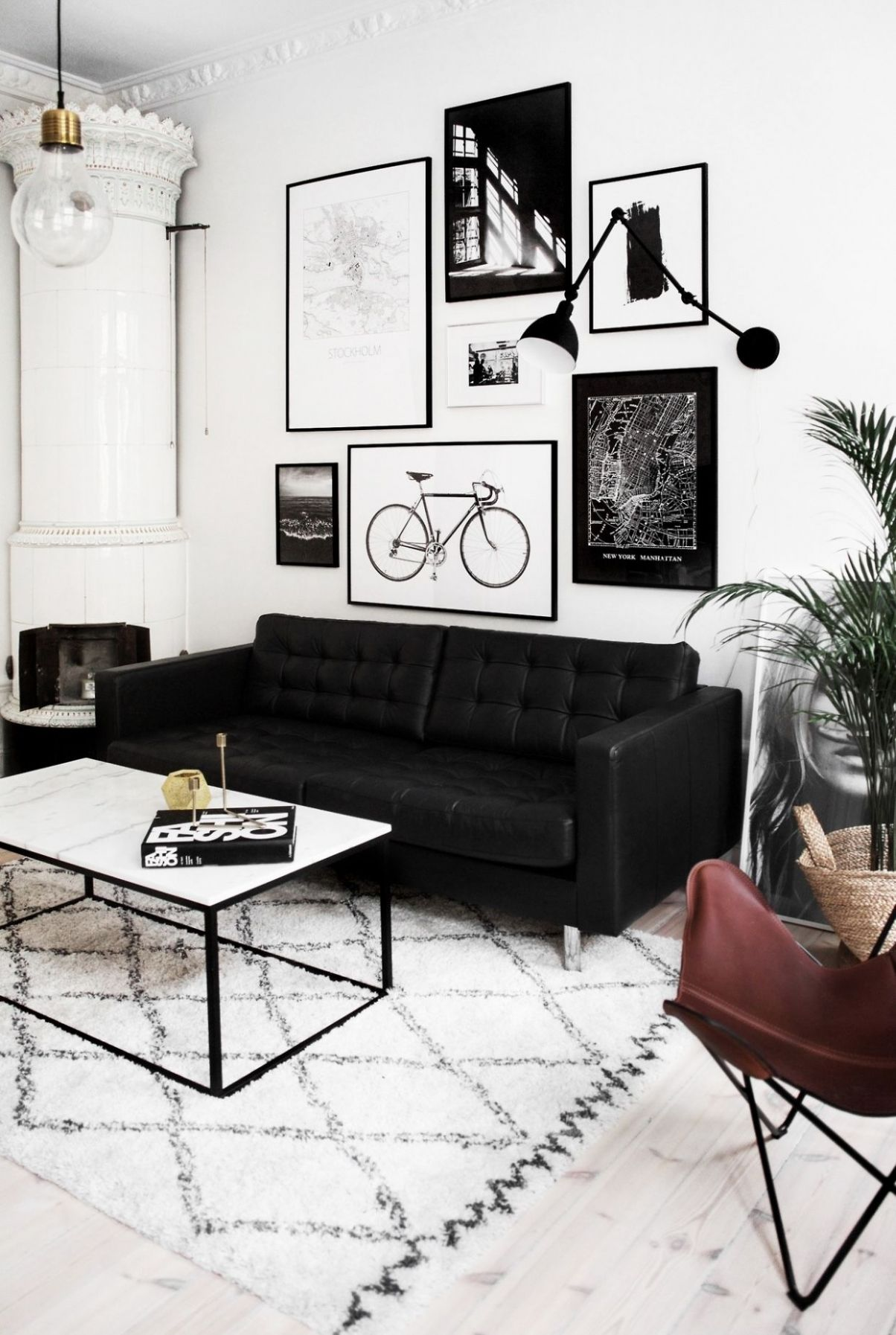 Pin by Jean Ow on _Flat shortlist | Black, white living room ..
