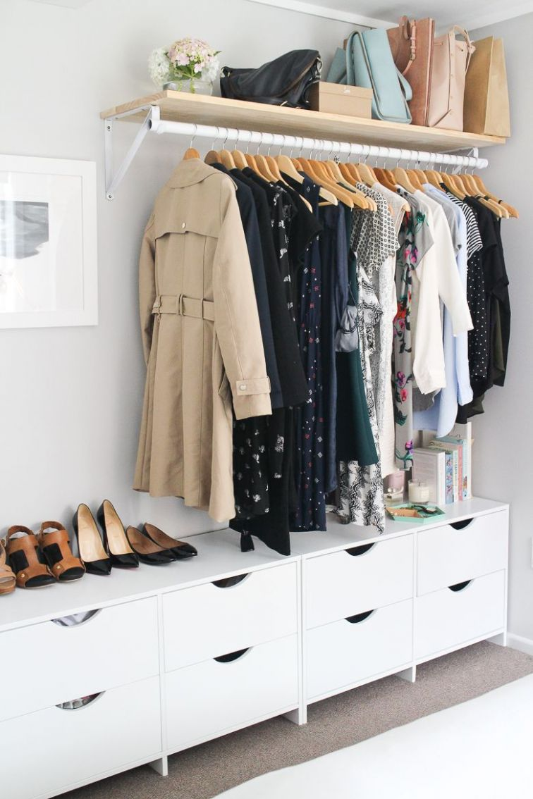 Pin by L B on Einrichtung | No closet solutions, Small bedroom ..