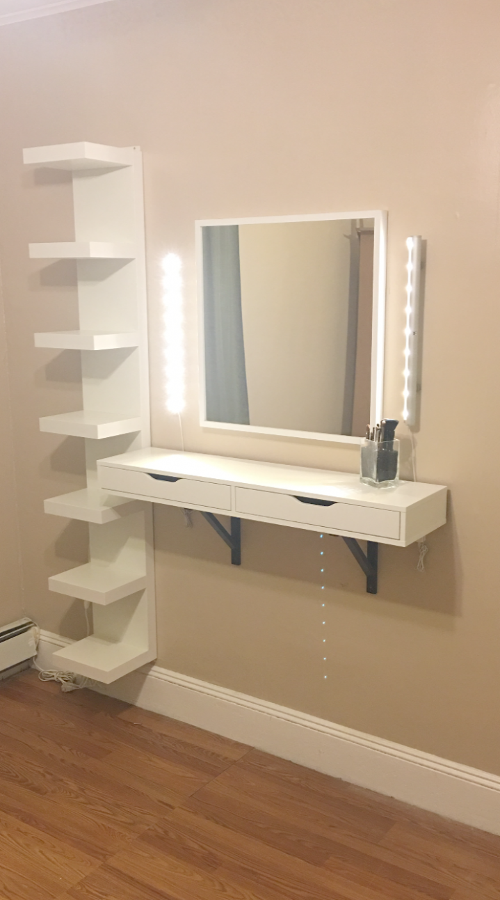 Pin on Makeup Vanity - makeup room art ideas