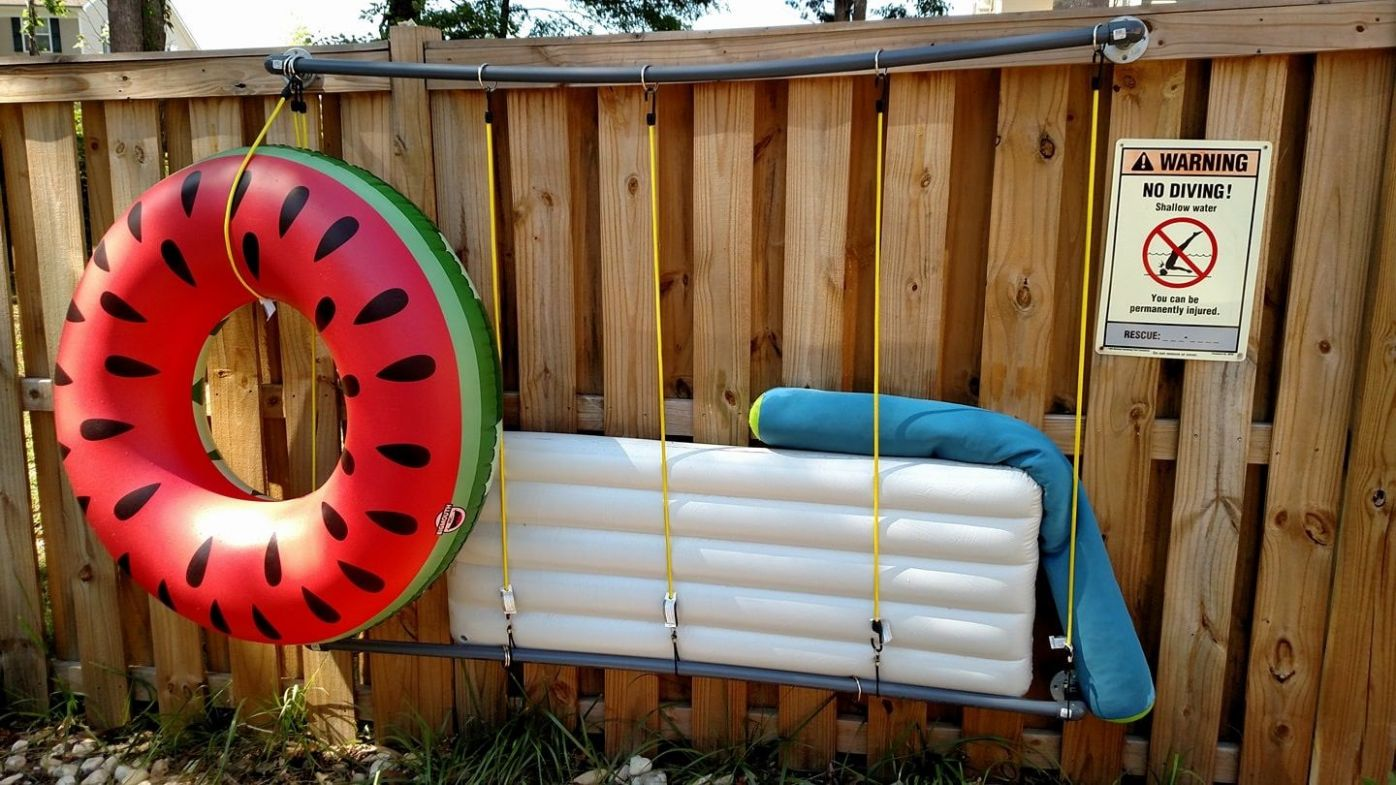 Pin on Pool - pool storage ideas