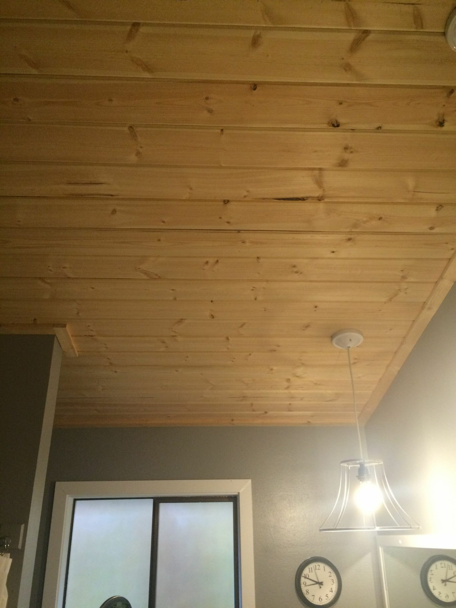 Pine tongue and groove on bathroom ceiling | Tongue and groove ..