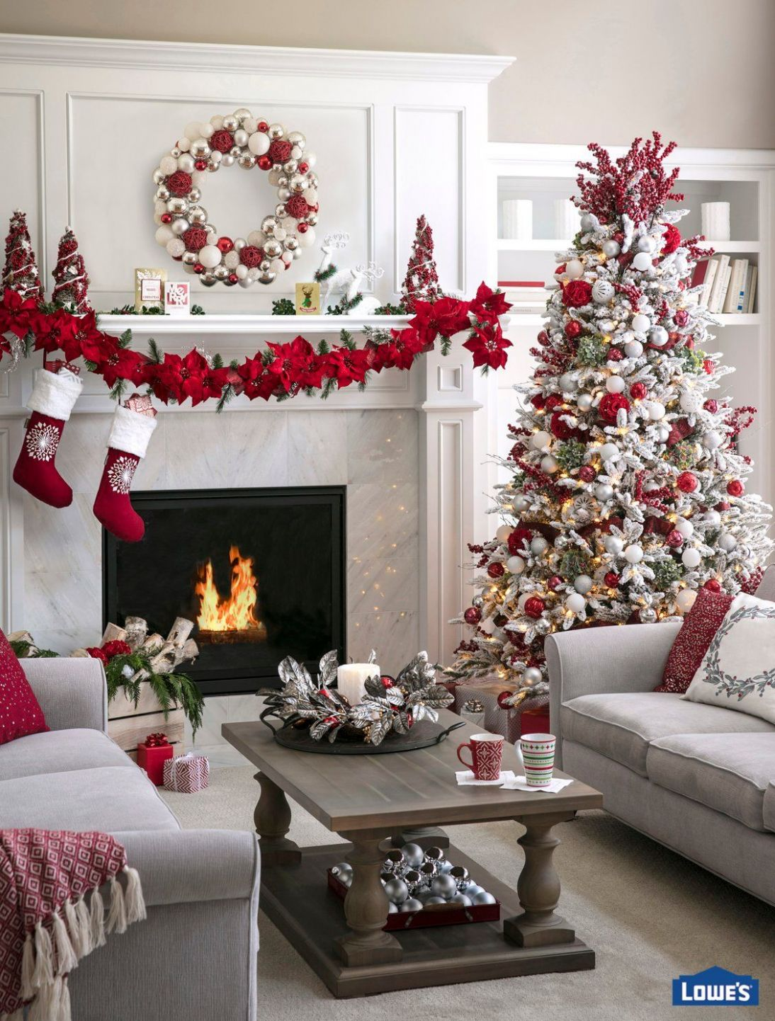 Plan Living Space Holiday Decor Ideas | Christmas living rooms ..