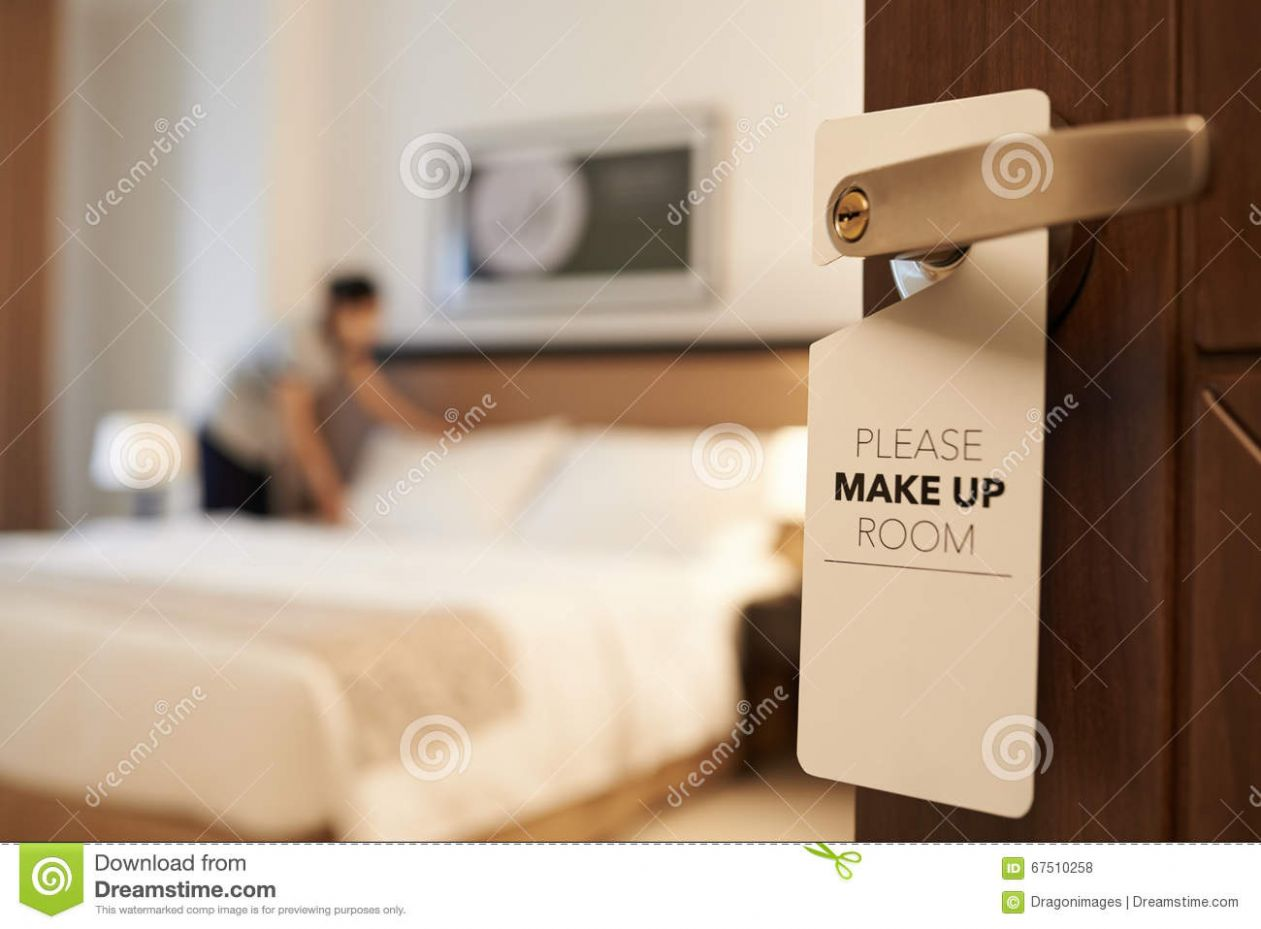 Please make up my room stock photo