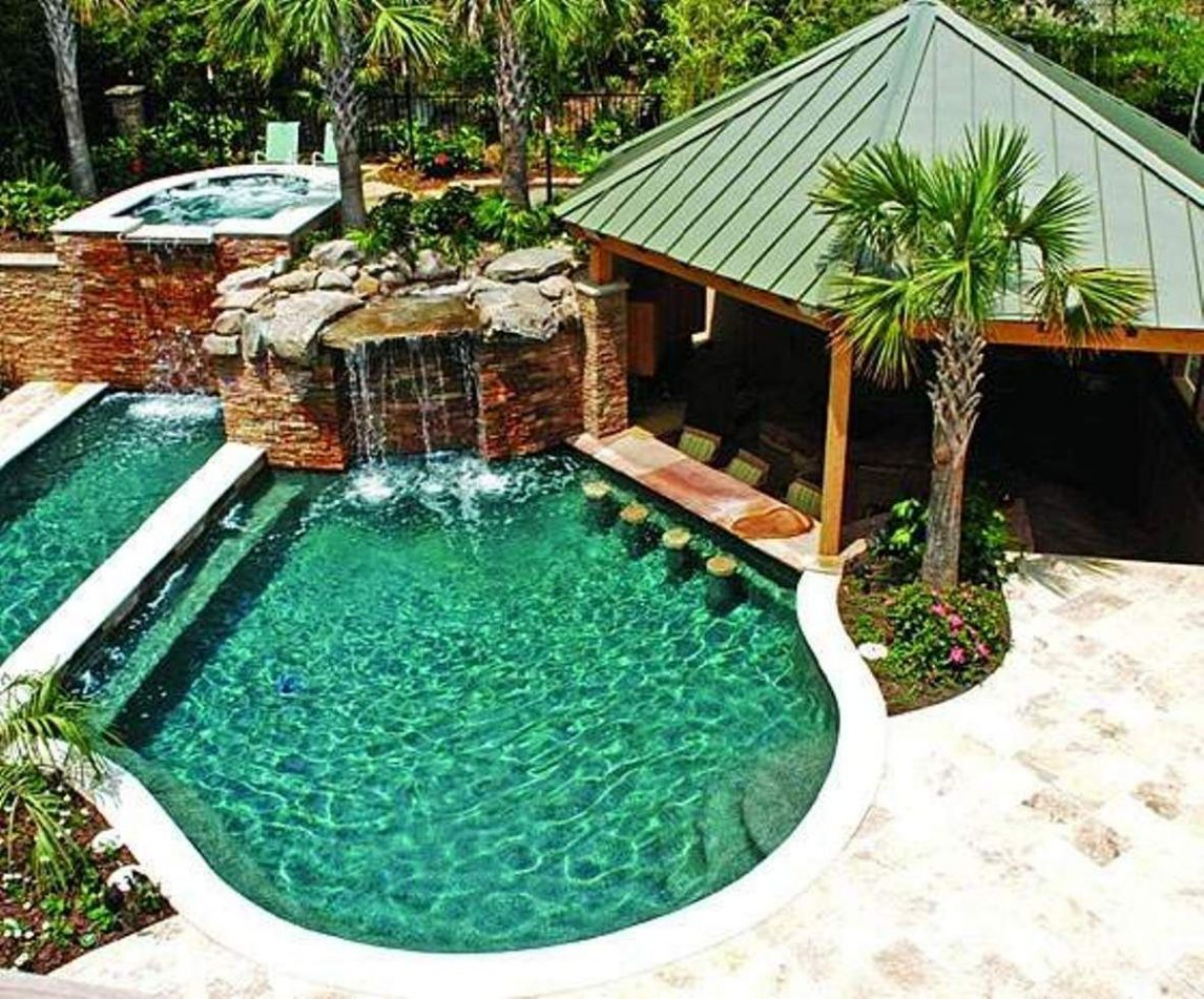 Pool Designs With Swim Up Bar Residential Amazing Swimming Pool ..