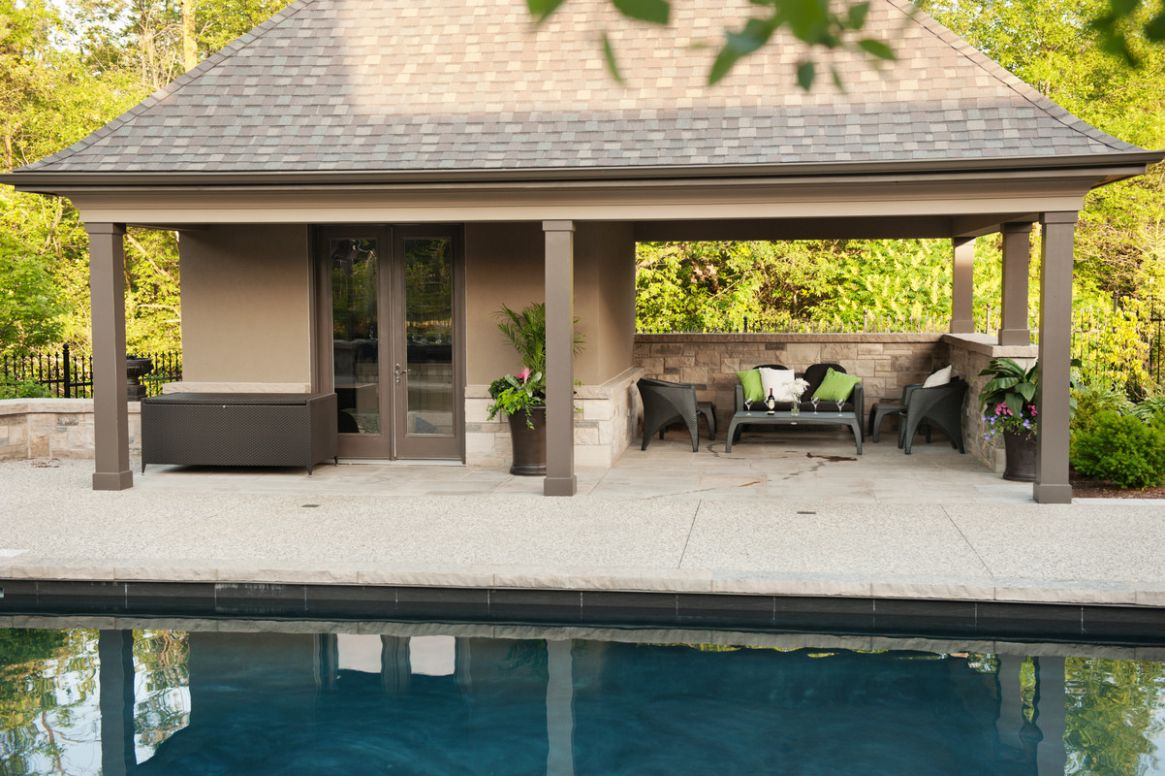 Pool House Bar Ideas Backyard Houses And Cabanas Sheds Oakville ..