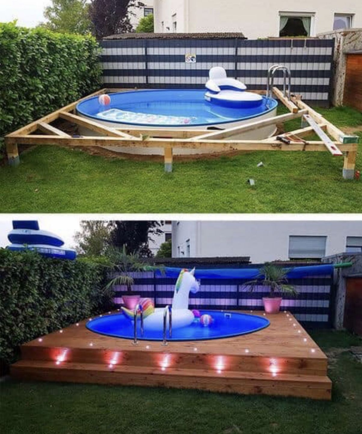 Pool ideas | Diy swimming pool, Backyard decor, Backyard - pool ideas diy