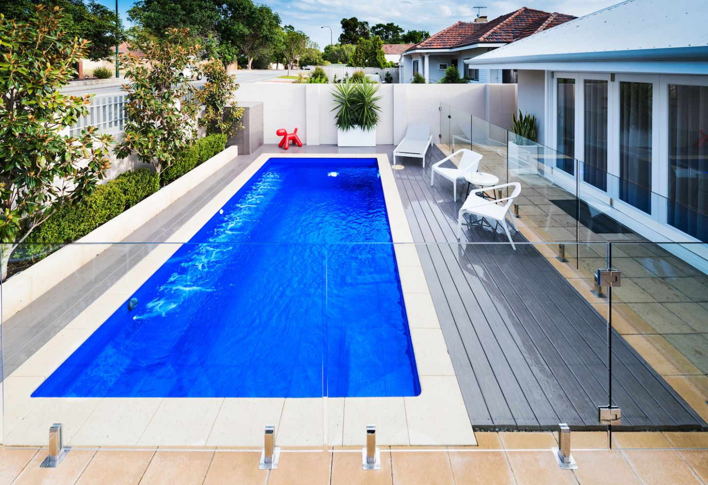Pool Ideas - Fiberglass Pools - Freedom Pools And Spas - pool landscaping ideas queensland