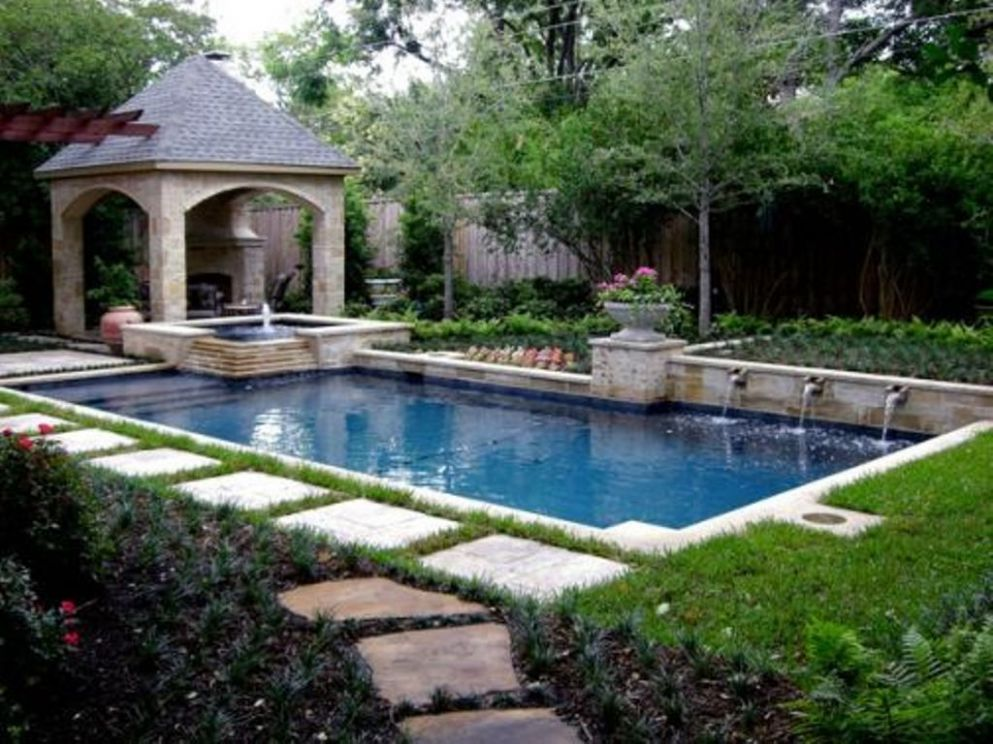 pool landscaping ideas on a budget - Google Search | Backyard pool ..