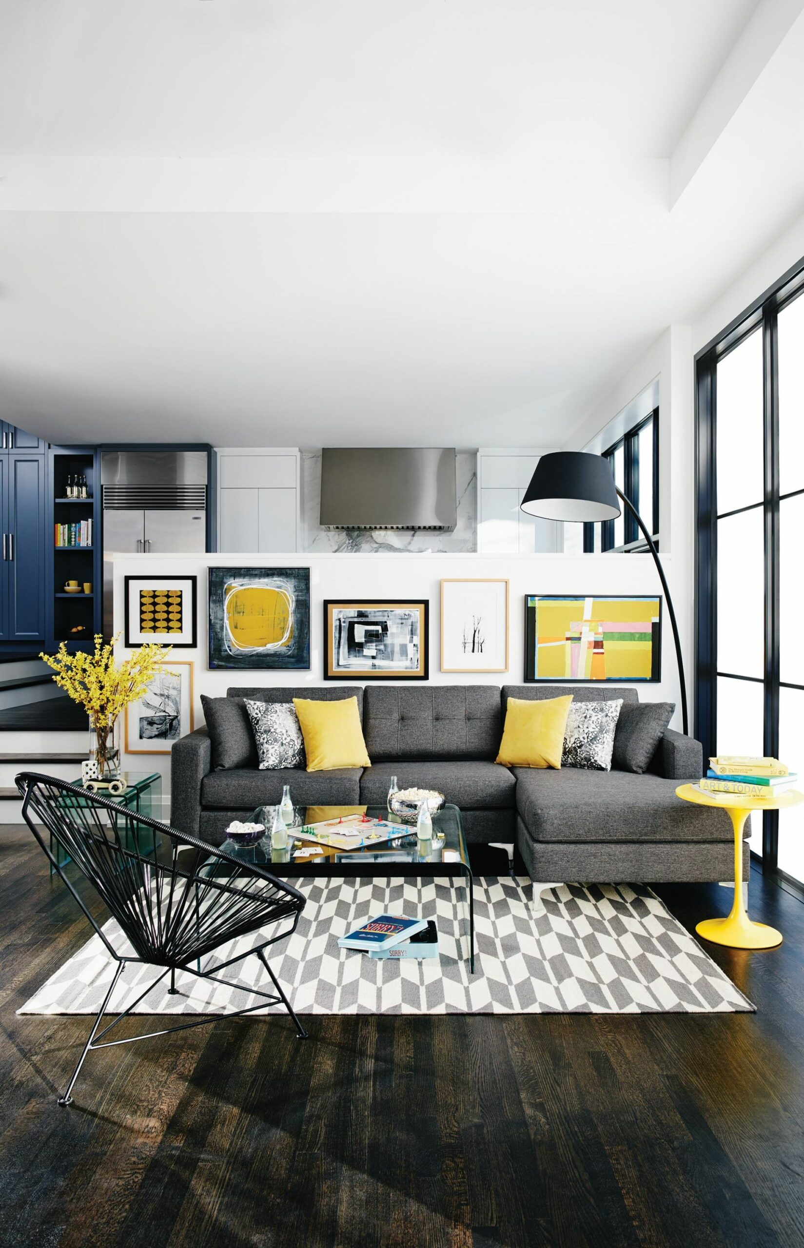 Pops of yellow (Home & Interiors) | Living room grey, Living room ...
