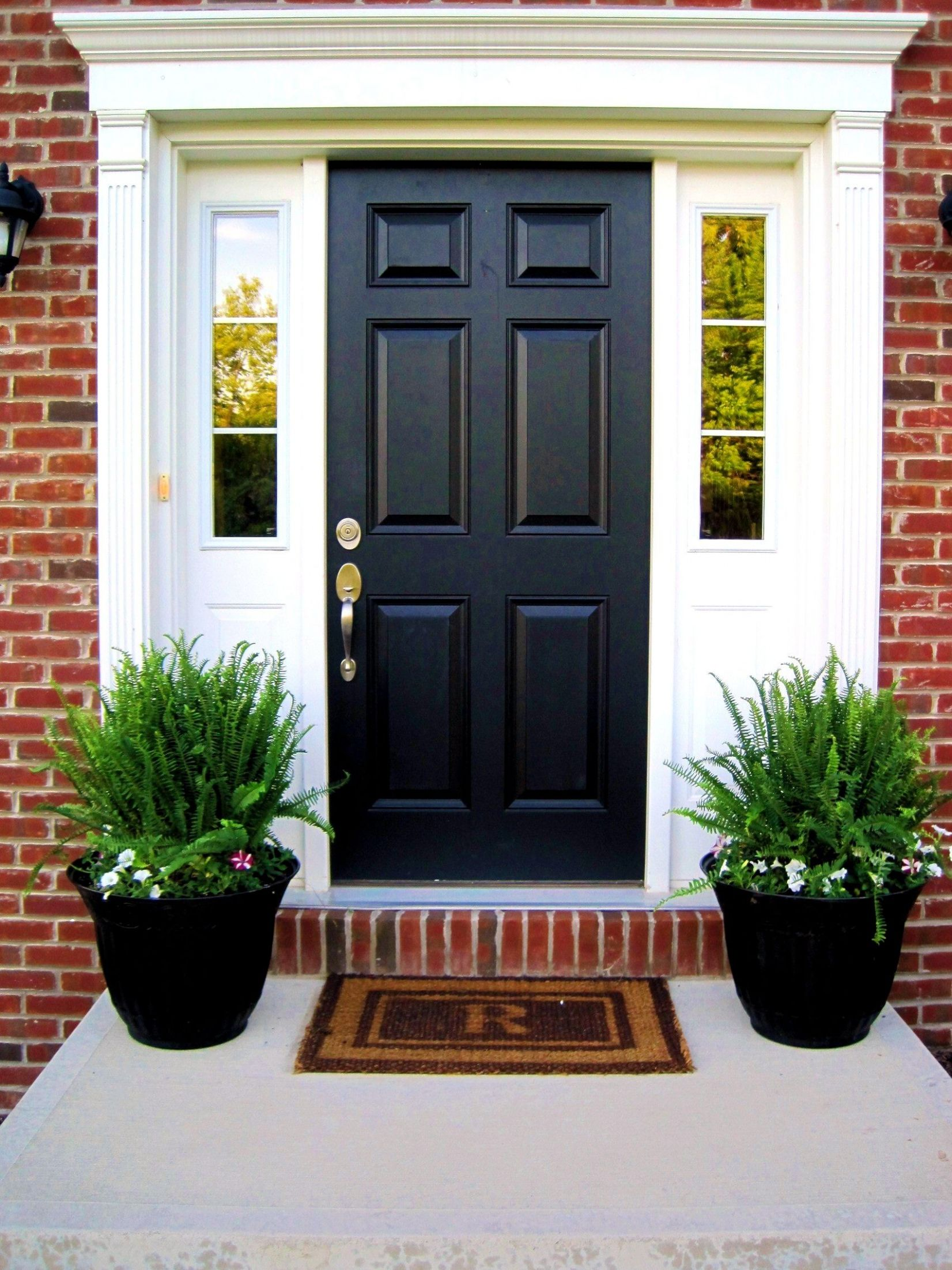 Potted Plants For Outside Front Door | Front porch flower pots ...