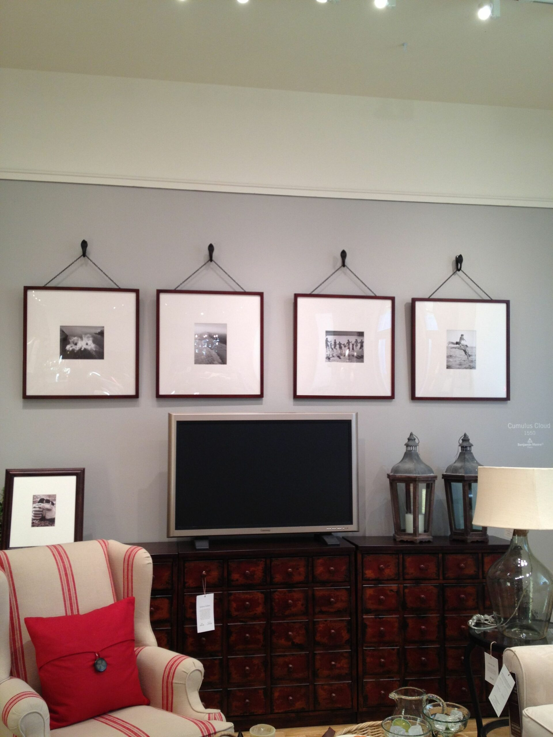 Pottery Barn Oversized picture frames Maybe over the tv in the ...