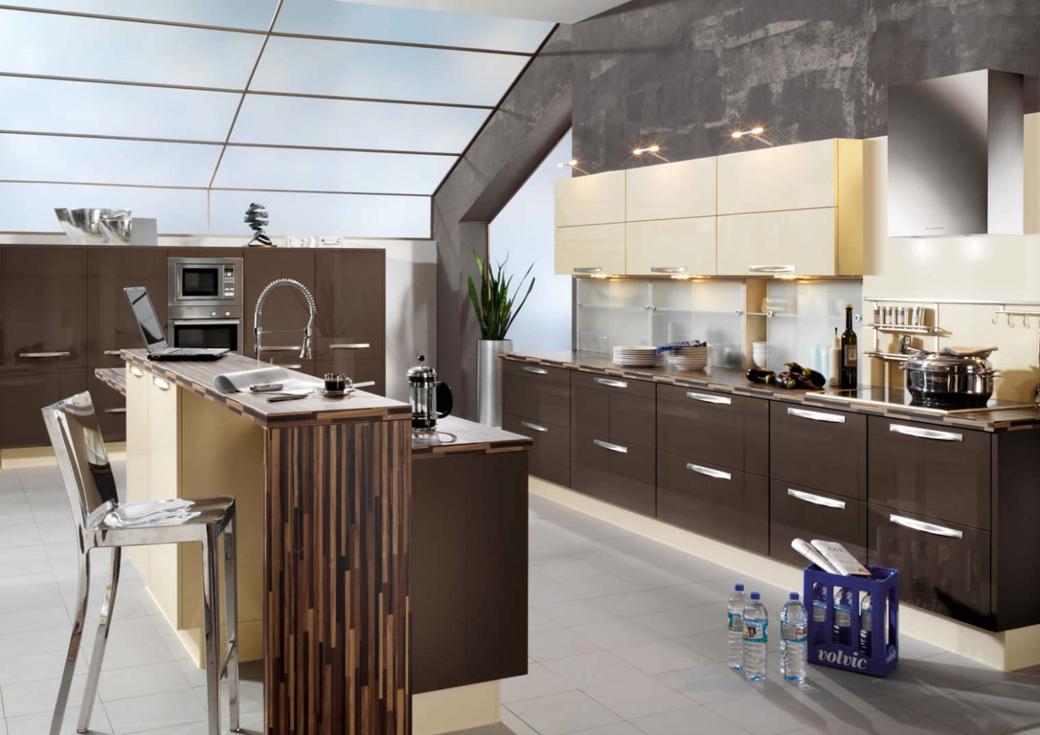 Primo Terra High Gloss Kitchen Design