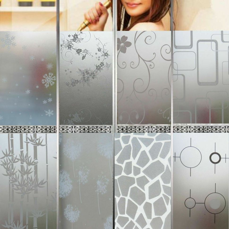 Privacy Glass Decor Frosted Window Film Static Cling Frosting ..