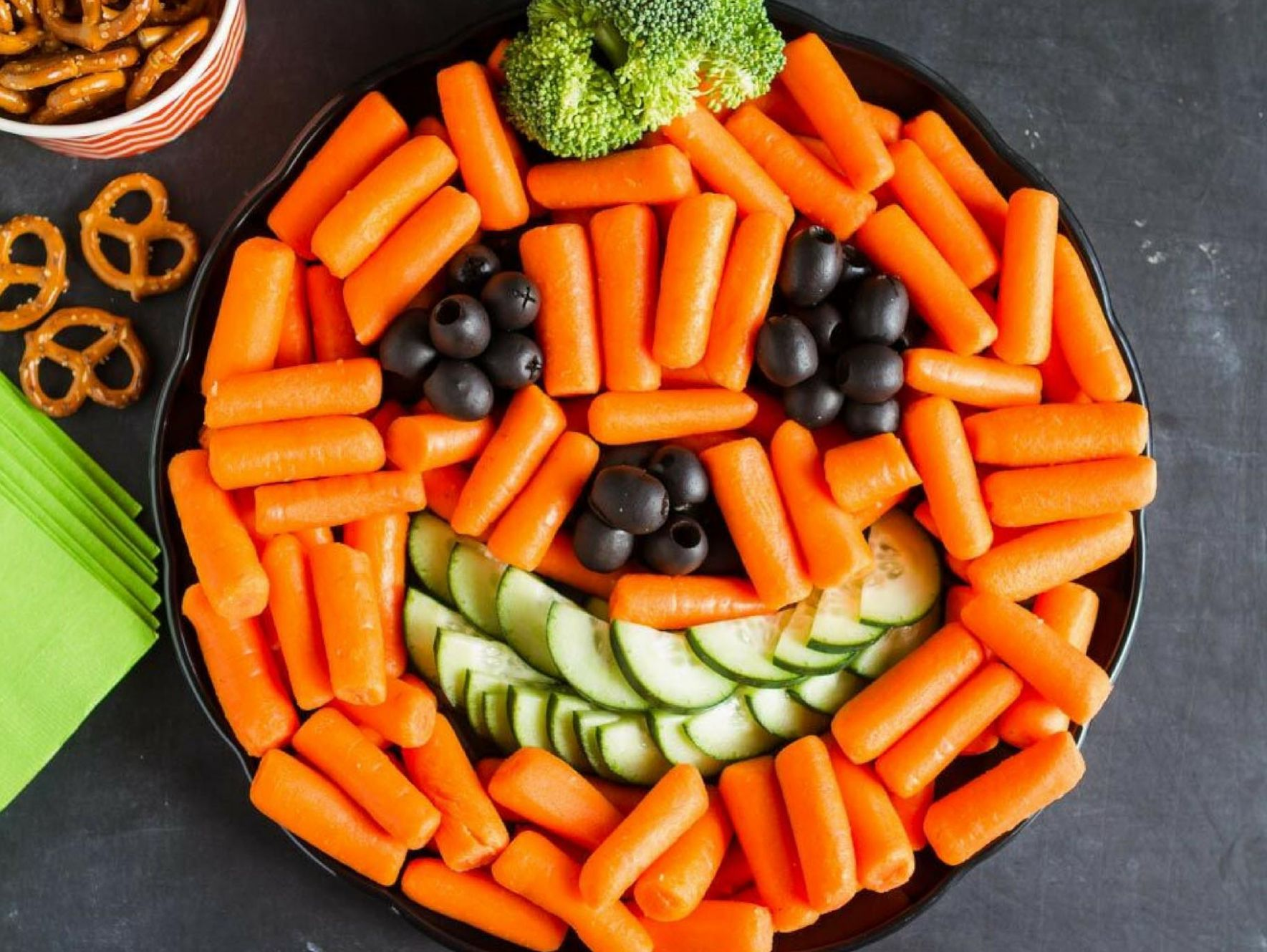 Pumpkin Veggie Tray Recipe | Fun12