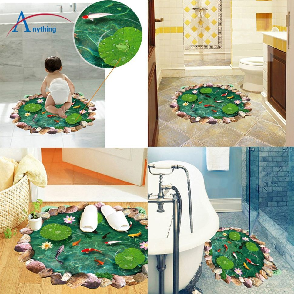 PVC 12D Art Wall Sticker Floor Home Decor Living Room Decoration - home decor shopee